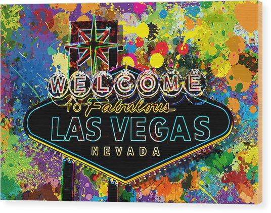Welcome To Las Vegas Wood Print