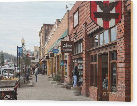 Welcome To Truckee California 5d27445 Wood Print by Wingsdomain Art and Photography