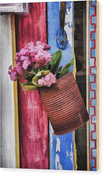 Welcoming Flowers Wood Print