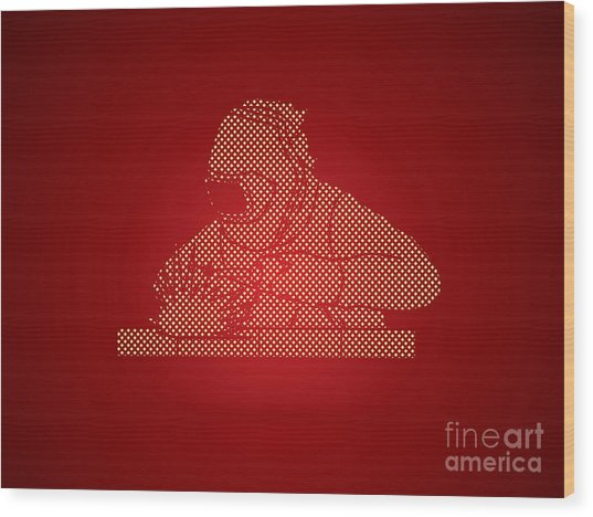 Welder Working Welding Designed Using Wood Print