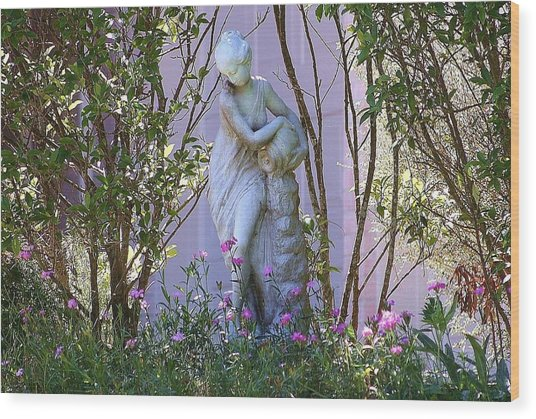 Well Woman Sculpture Wood Print