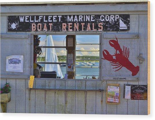 Wellfleet Harbor Thru The Window Wood Print