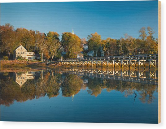 Wellfleet Reflection Wood Print