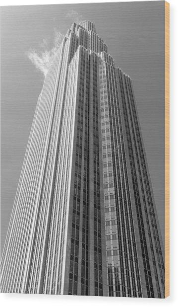 Wells Fargo Center In Minneapolis Wood Print by Jim Hughes