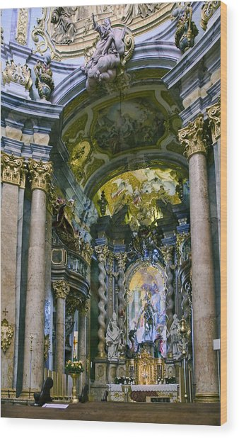 Weltenburg Abbey  II Wood Print