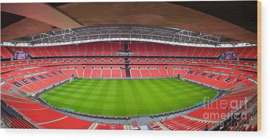 Wembely Stadium Wood Print