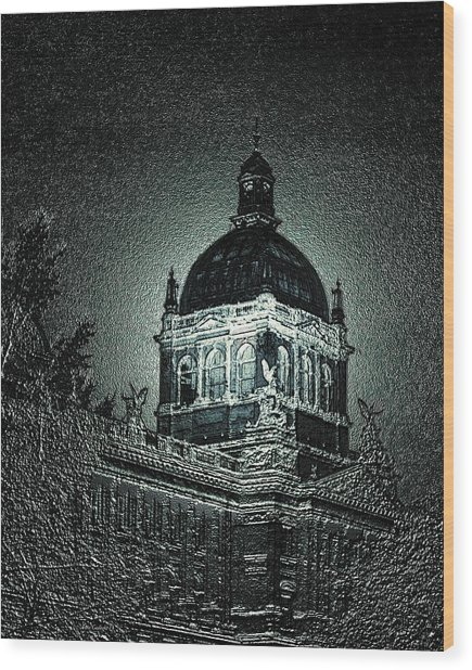 Wenceslas Square Wood Print