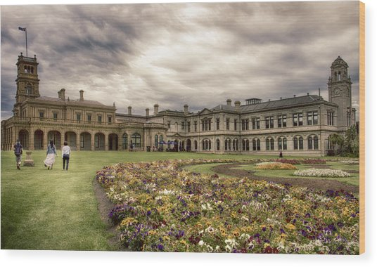 Werribee Mansion Wood Print