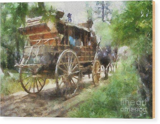 West Away Wood Print