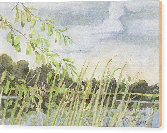 West Bay Napanee River Wood Print