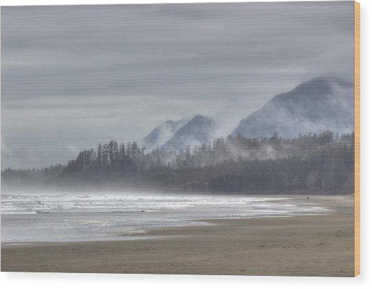 West Coast Mist Wood Print