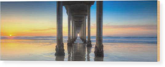 West Coast Tranquillity Wood Print