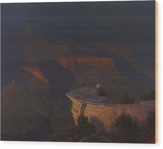 West Moon Grand Canyon Wood Print