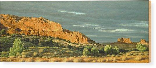 West Of Moab Wood Print