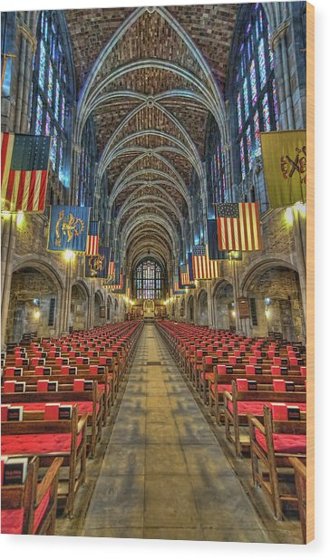 West Point Cadet Chapel Wood Print