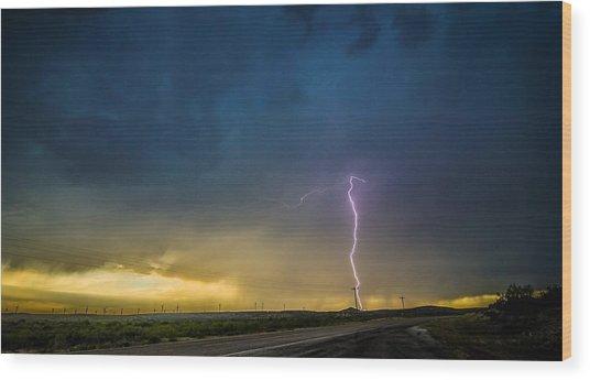 West Texas Thunderstorm Wood Print