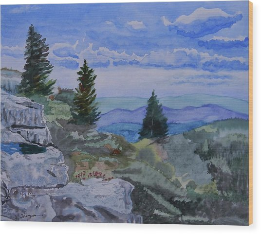 West Virginia On My Mind Wood Print by Warren Thompson