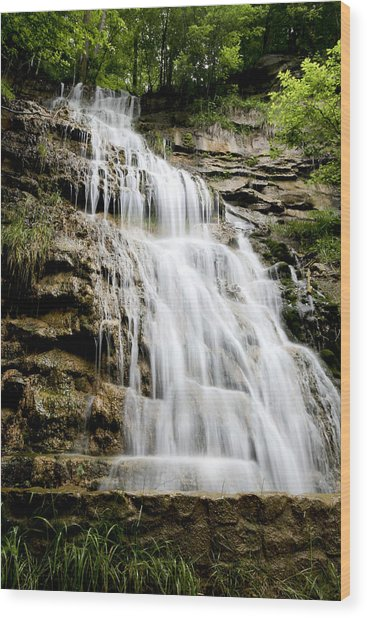 West Virginia Waterfall Wood Print