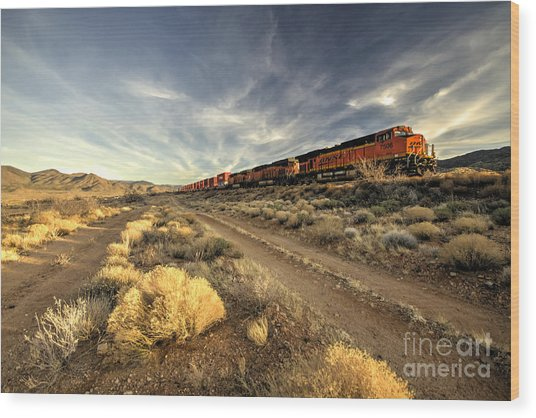 Westbound Freight  Wood Print