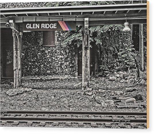 Westbound Track At Glen Ridge Station Wood Print