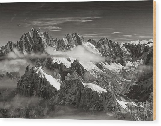 Western Alps - Panorama Wood Print
