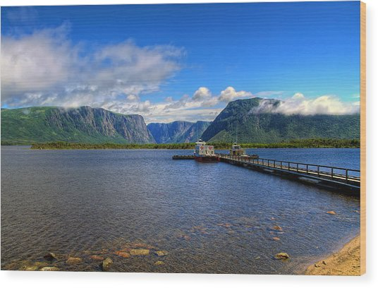 Western Brook Fjord. Wood Print