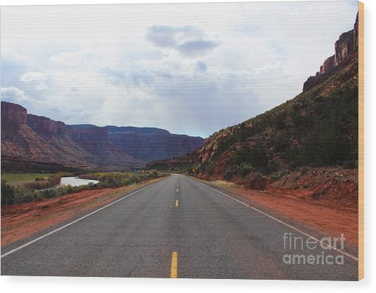 Western Colorado Drive Wood Print