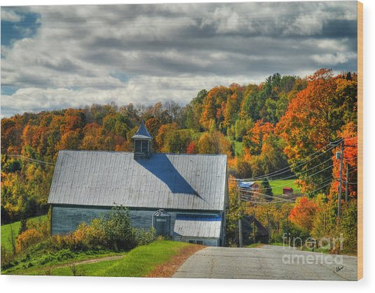 Western Maine Barn Wood Print