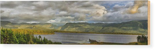 Western Newfoundland Panorma Wood Print by Steve Hurt