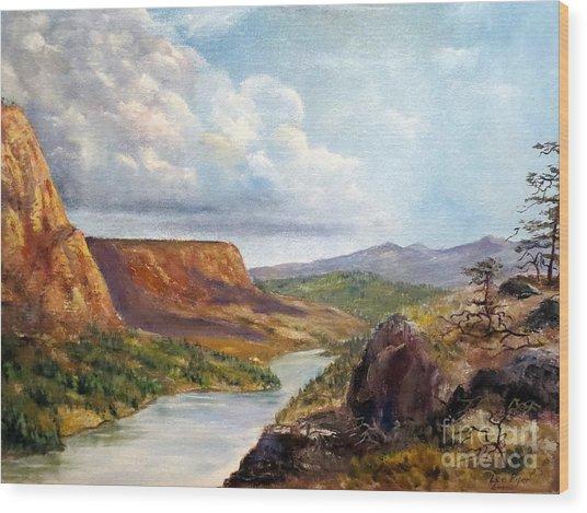 Western River Canyon Wood Print