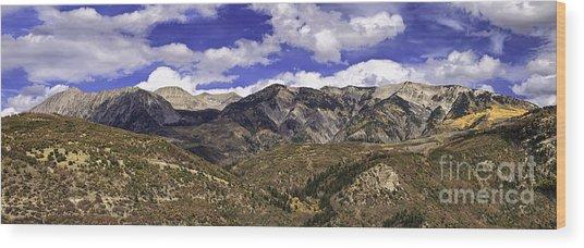 Western Sky Panorama Wood Print