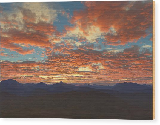 Western Sunset Wood Print