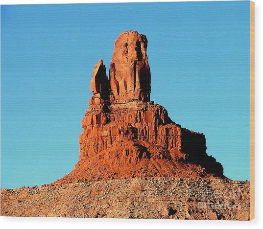Western Usa Rock Wood Print by John Potts