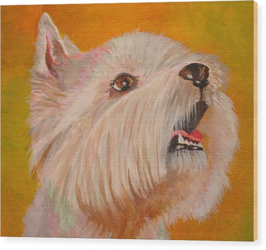 Westie Portrait Wood Print