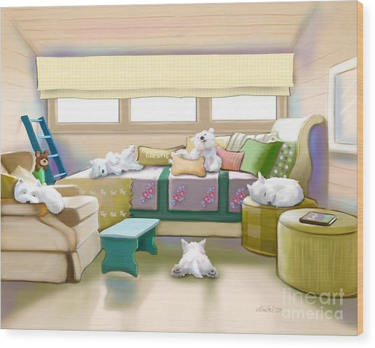 Westie Retreat  Wood Print