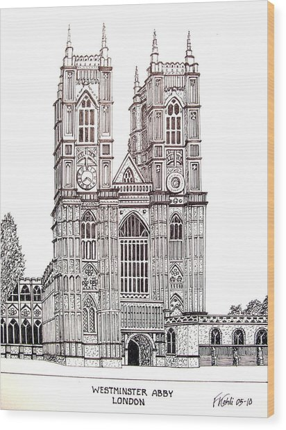 Westminster Abby - London Wood Print