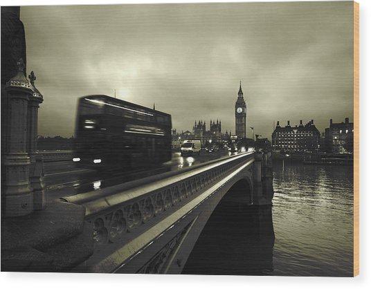 Westminster Bridge Wood Print by Scott Lanphere