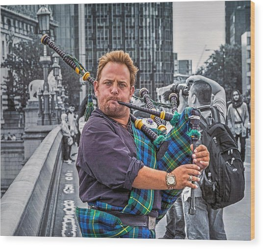Westminster Piper Wood Print