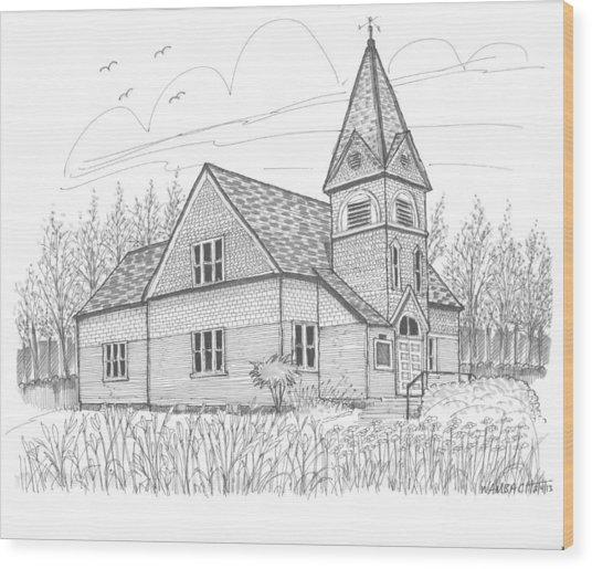 Westmore Community Church Wood Print