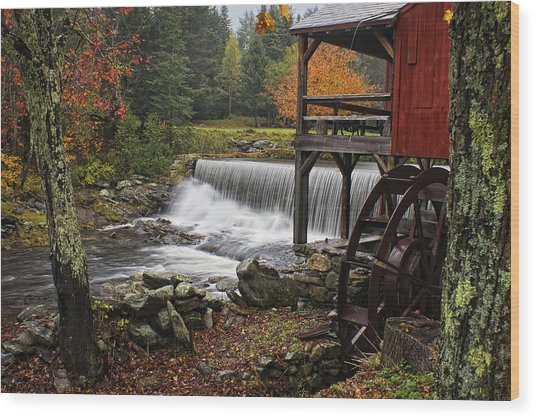 Weston Grist Mill Wood Print