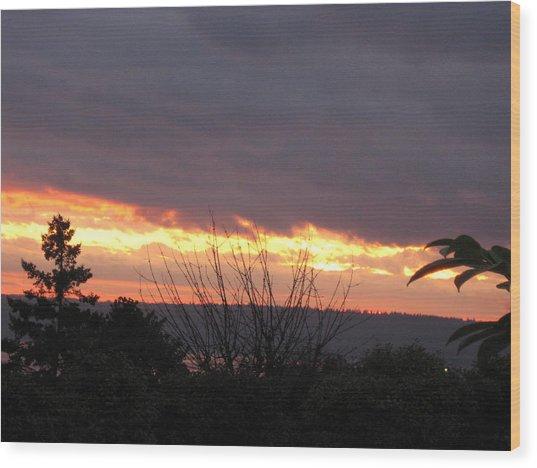 Westward Sunbreak - Seattle Wood Print