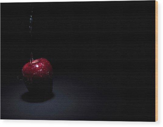 Wet Apple Wood Print by Paul Watkins