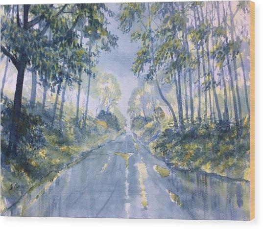 Wet Road In Woldgate Wood Print