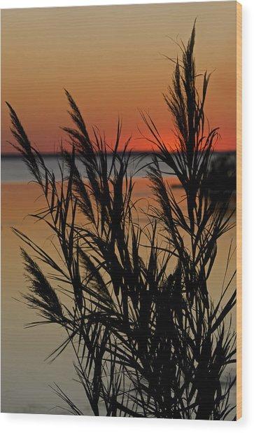 Whalehead Sunset Obx II Wood Print
