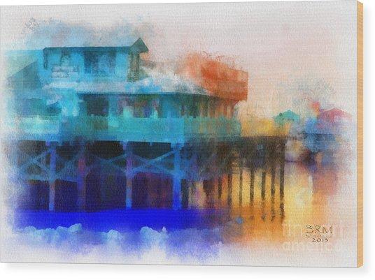 Wharf Color Wood Print