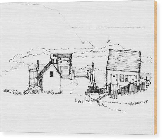 Wharf Monhegan Island 1987 Wood Print