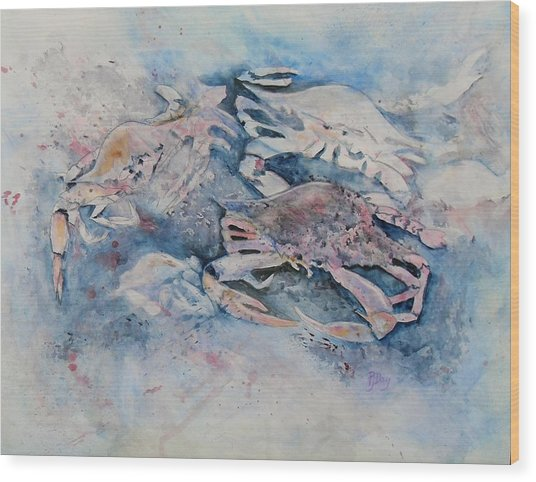What A Crab Wood Print