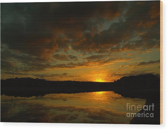 What A Sunset Wood Print