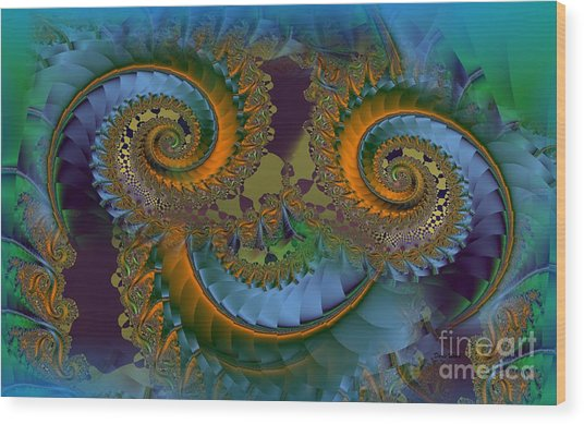 What Big Eyes You Have Wood Print by Doris Wood