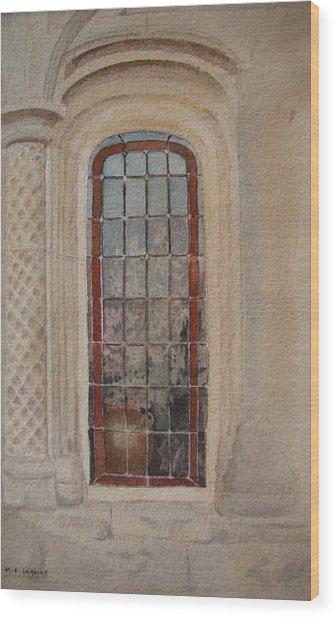 What Is Behind The Window Pane Wood Print